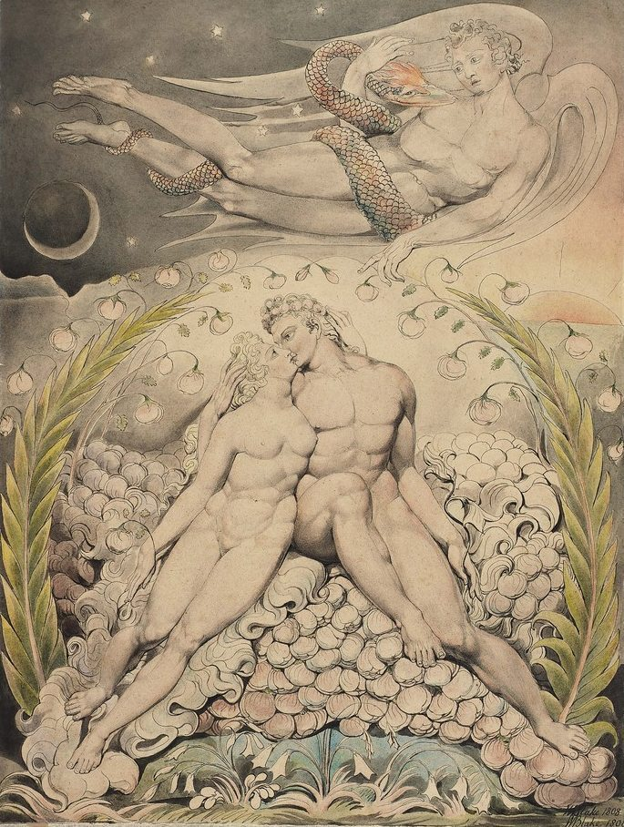 william-blake-the-love-of-adam-and-eve